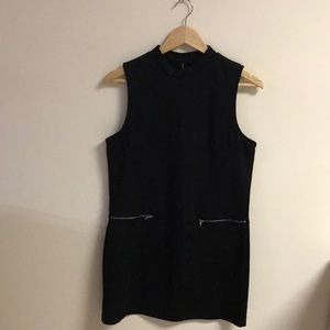 Black Dress w/ Silver Zipper Detailing